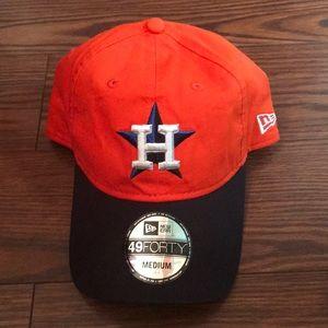New Era Fitted Orange Houston Astros hat
